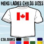 CANADA CANADIAN FLAG EMBLEM T-SHIRT ALL SIZES & COLOURS